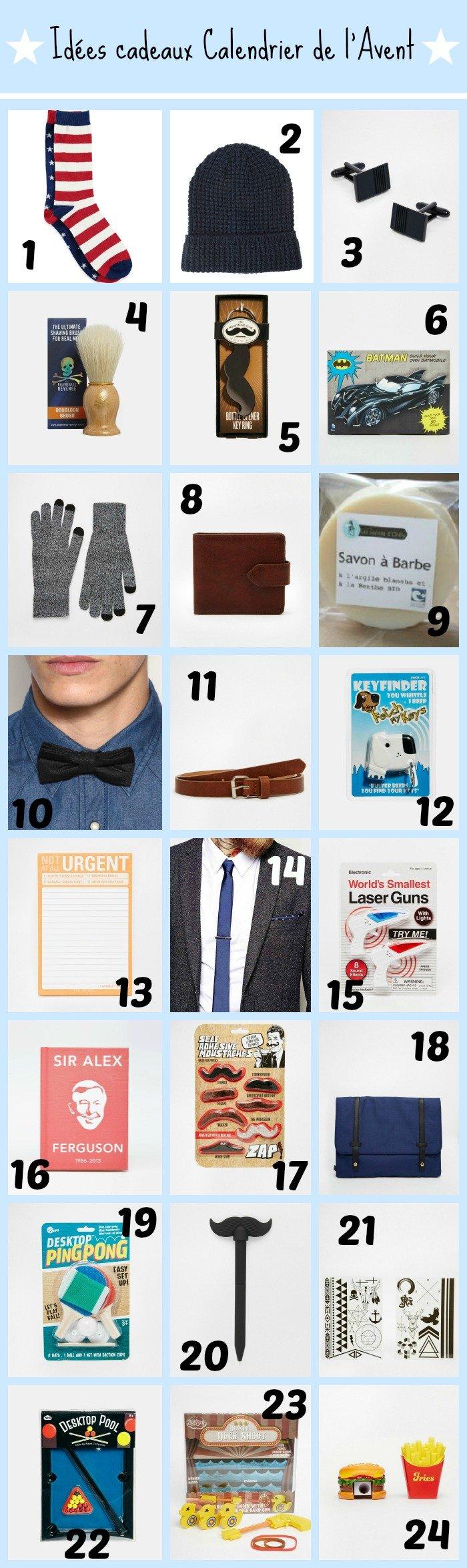 Idées cadeaux calendrier de lAvent pour Hommes - With a love like ...