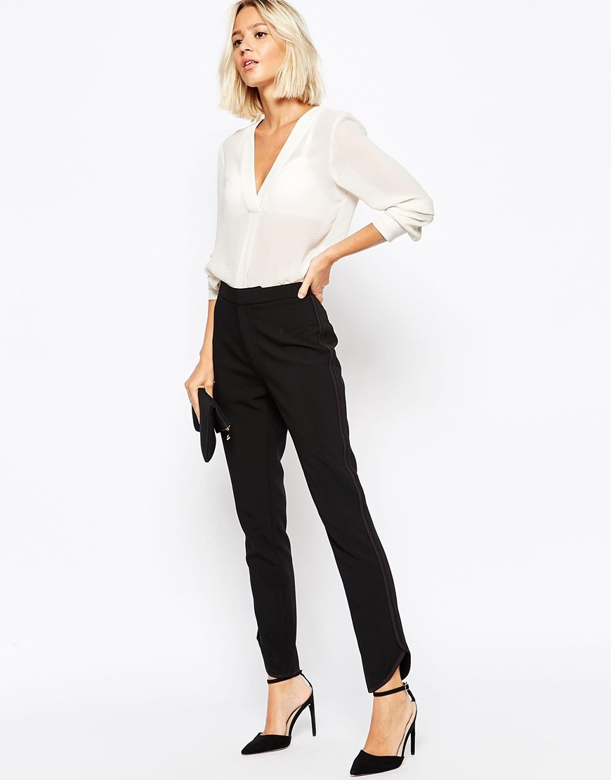 Invit e mariage styl e en pantalon with a love like for Pantalon carreaux noir et blanc