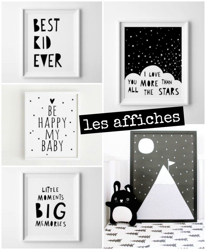 affiches-chambre-bebe-noir-blanc - With a love like that - Blog ...