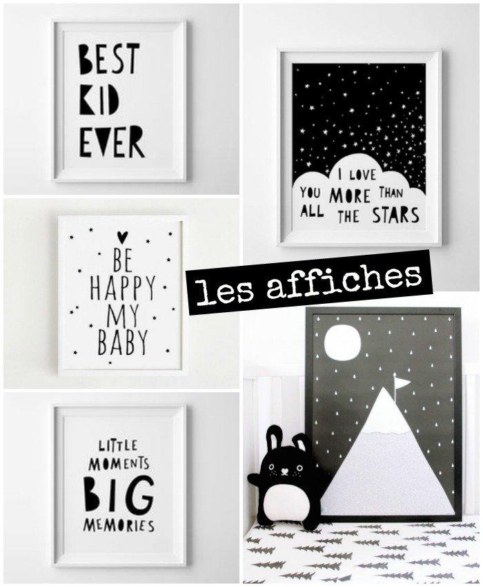 inspiration chambre bébé : les affiches / withalovelikethat.fr