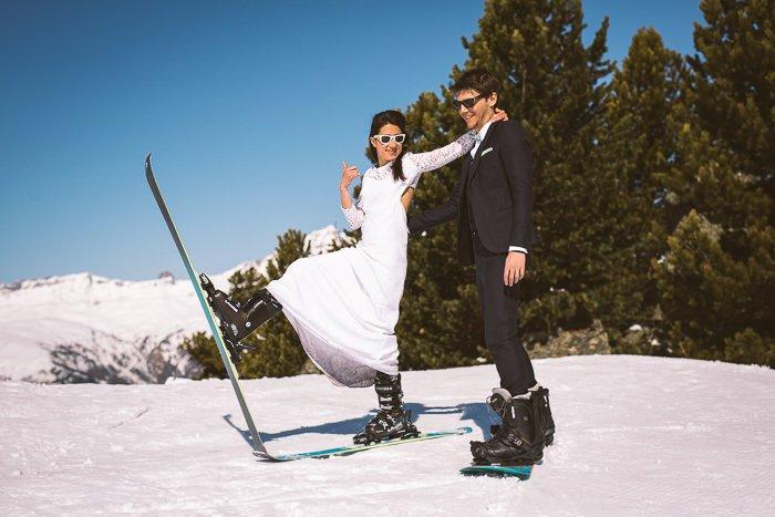 Mariage au ski / photographe streetfocus / publié sur withalovelikethat.fr