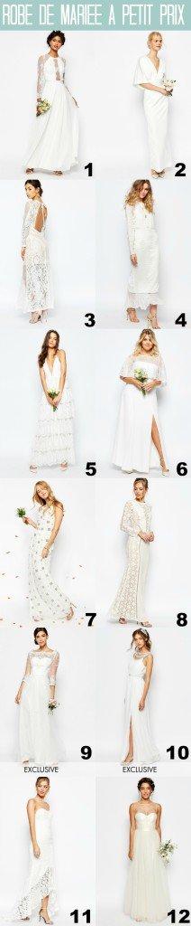 robes de mariée pas chères (et canon)