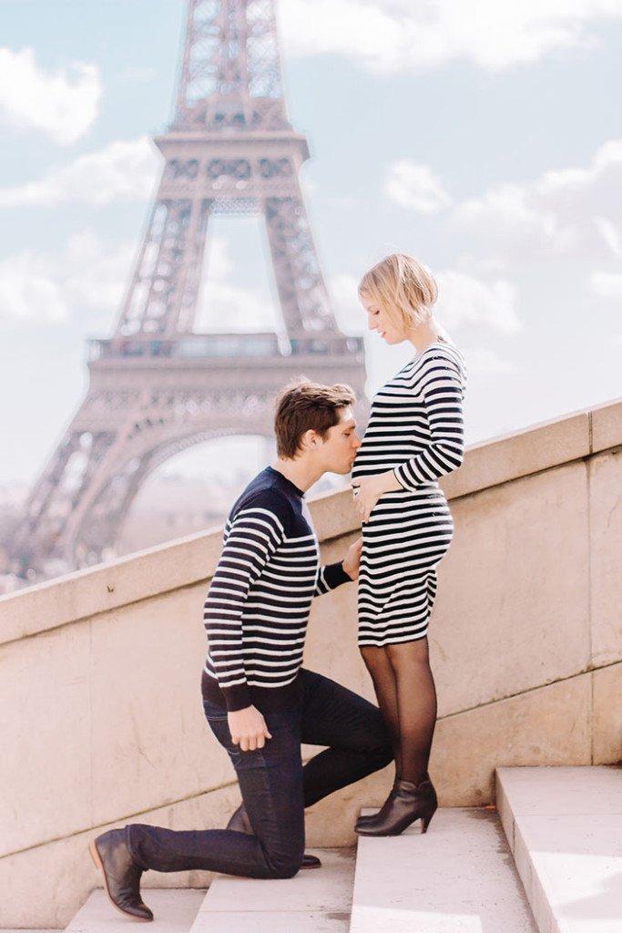 Notre séance photo grossesse à Paris