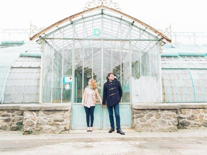 Séance engagement Serre d'Auteuil / photographe Camy duong / publié sur withalovelikethat.fr