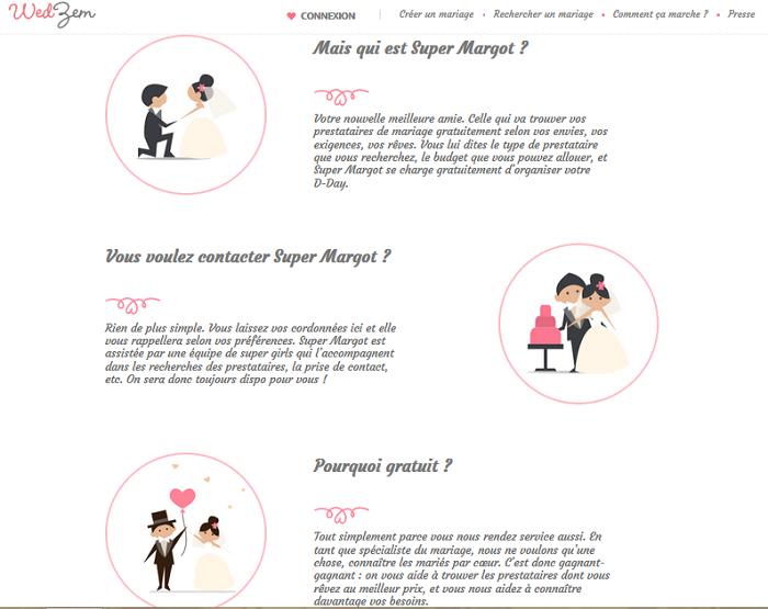Super Margot, la fée qui vous aide à organiser votre mariage gratuitement par wedzem