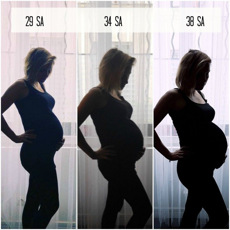 Evolution grossesse au 3e trimestre / sur withalovelikethat.fr