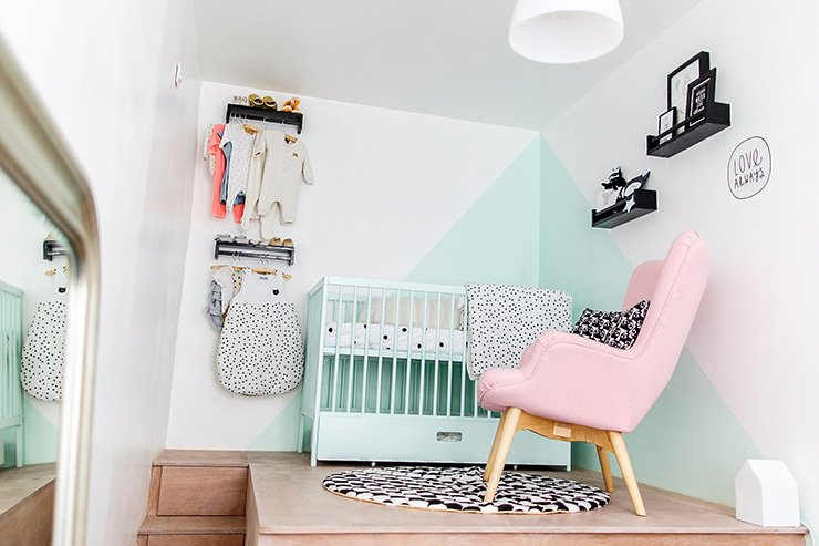 La chambre de minie like that with a love like that blog lifestyle - Chambre enfant noir et blanc ...