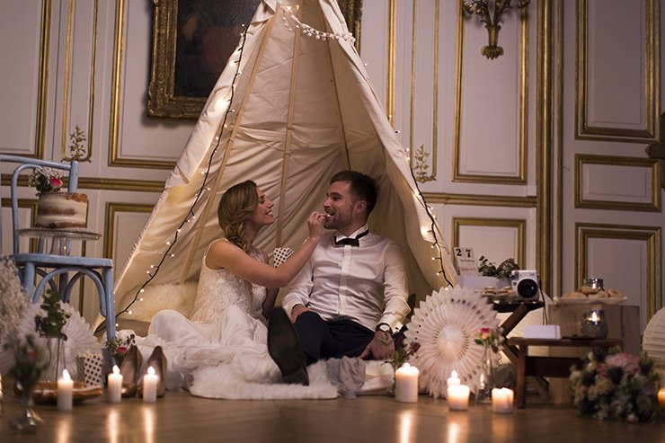 shooting inspiration mariage … dans un tipi