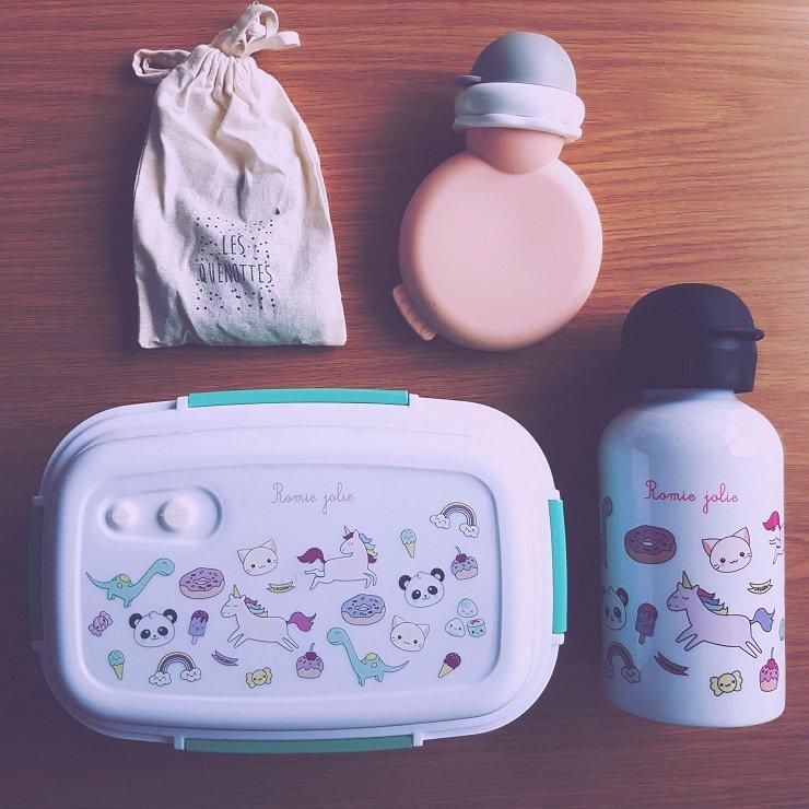 lunchbox et gourde personnalisable : idée cadeau enfant / publié sur withalovelikethat.fr