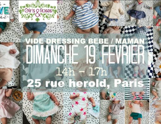 Vide dressing maman bébé Paris 19 février 2016