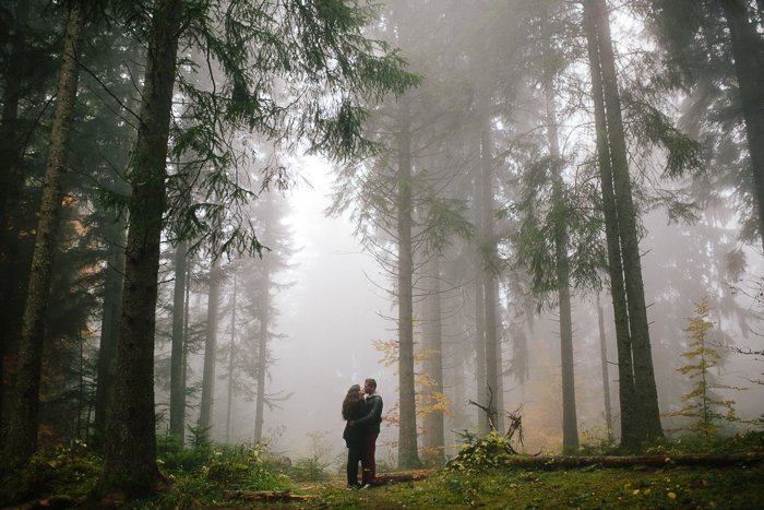 Une séance engagement dans la forêt