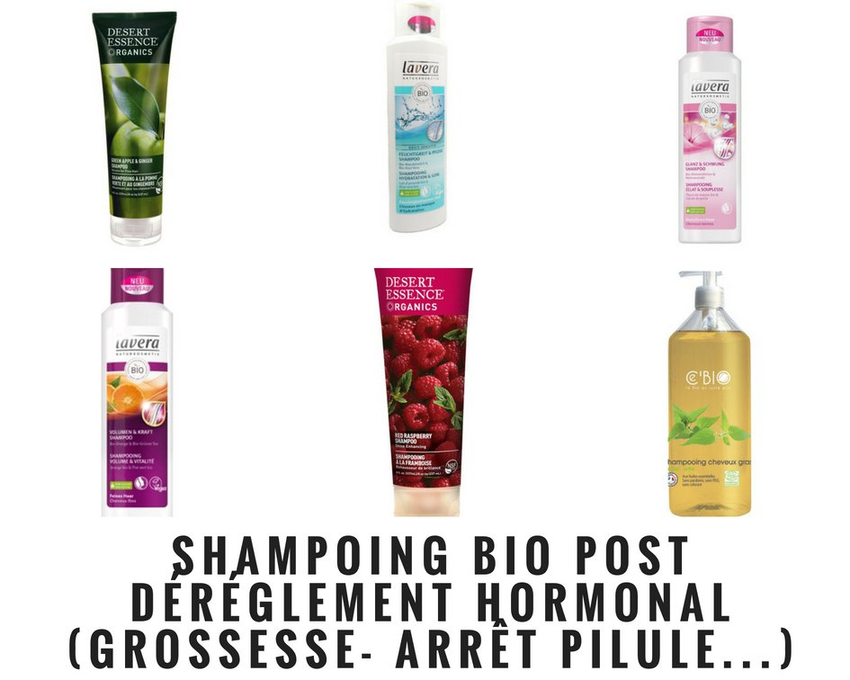 mes tests shampoing bio post dérèglement hormonal