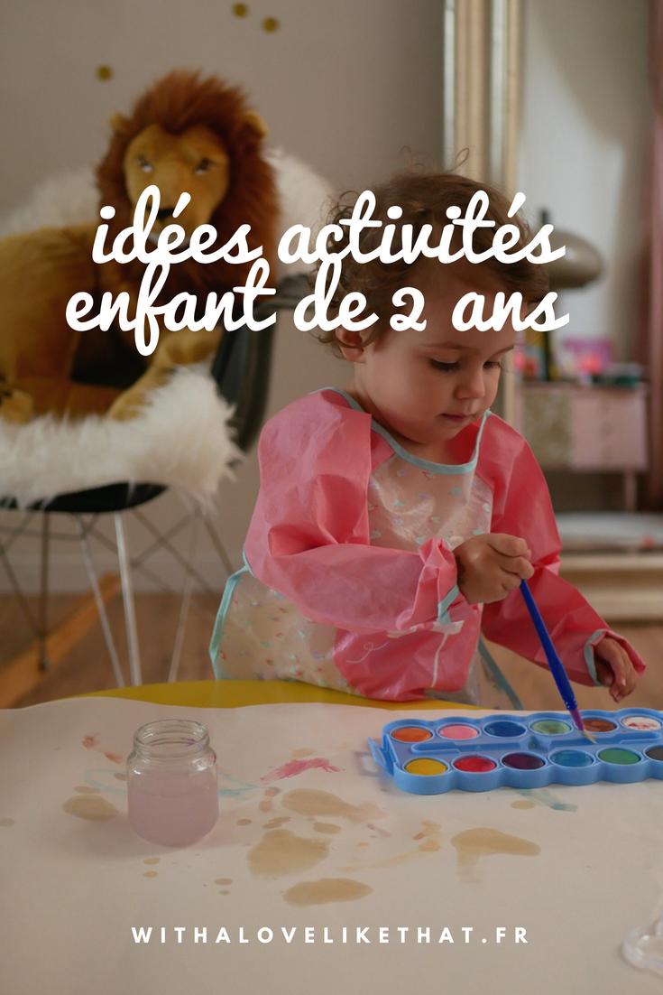 idées d'activités pour enfant de 2 ans
