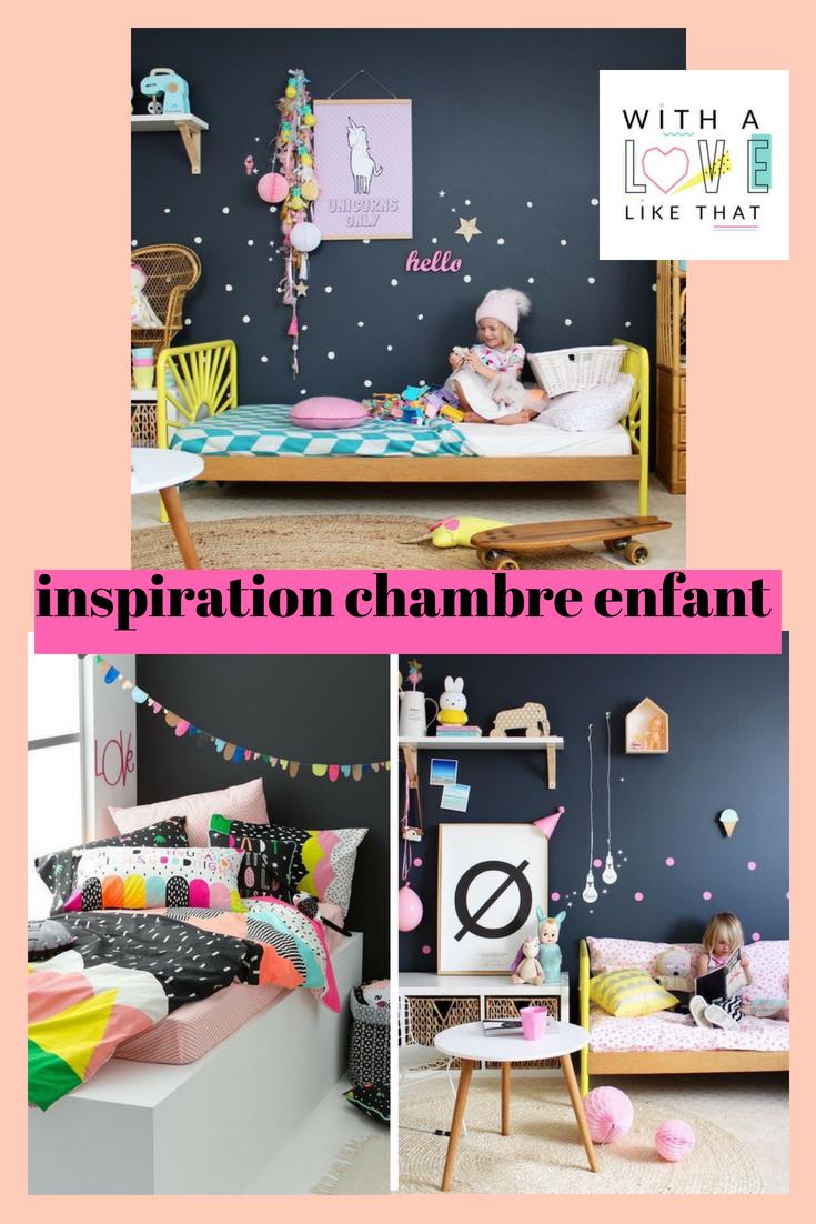 inspiration chambre enfant mur foncé / sur withalovelikethat.fr