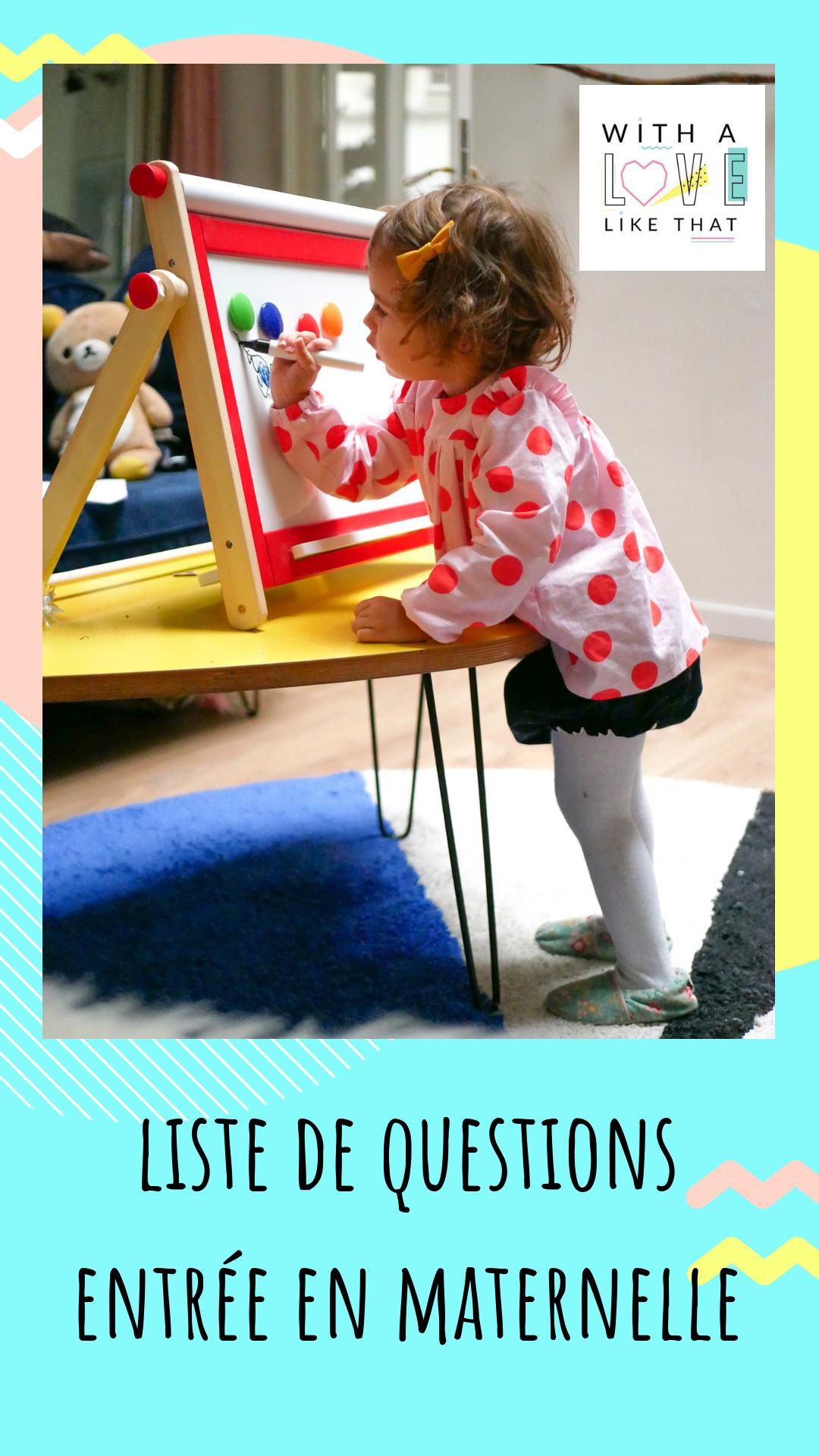 liste questions entrée en maternelle / plus sur withalovelikethat.fr