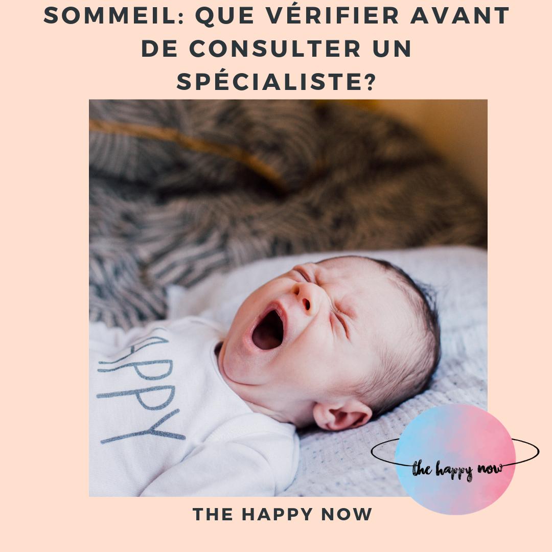 sommeil de bébé : que vérifier avant de consulter