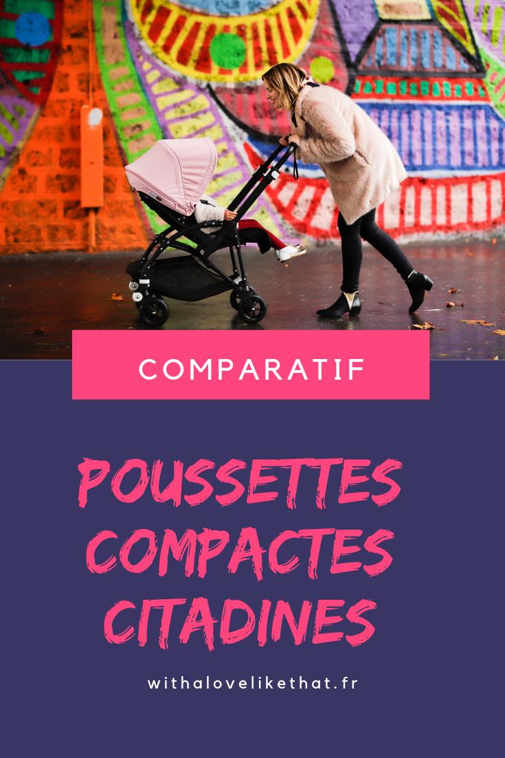 comparatif poussette compacte citadine / sur withalovelikethat.fr