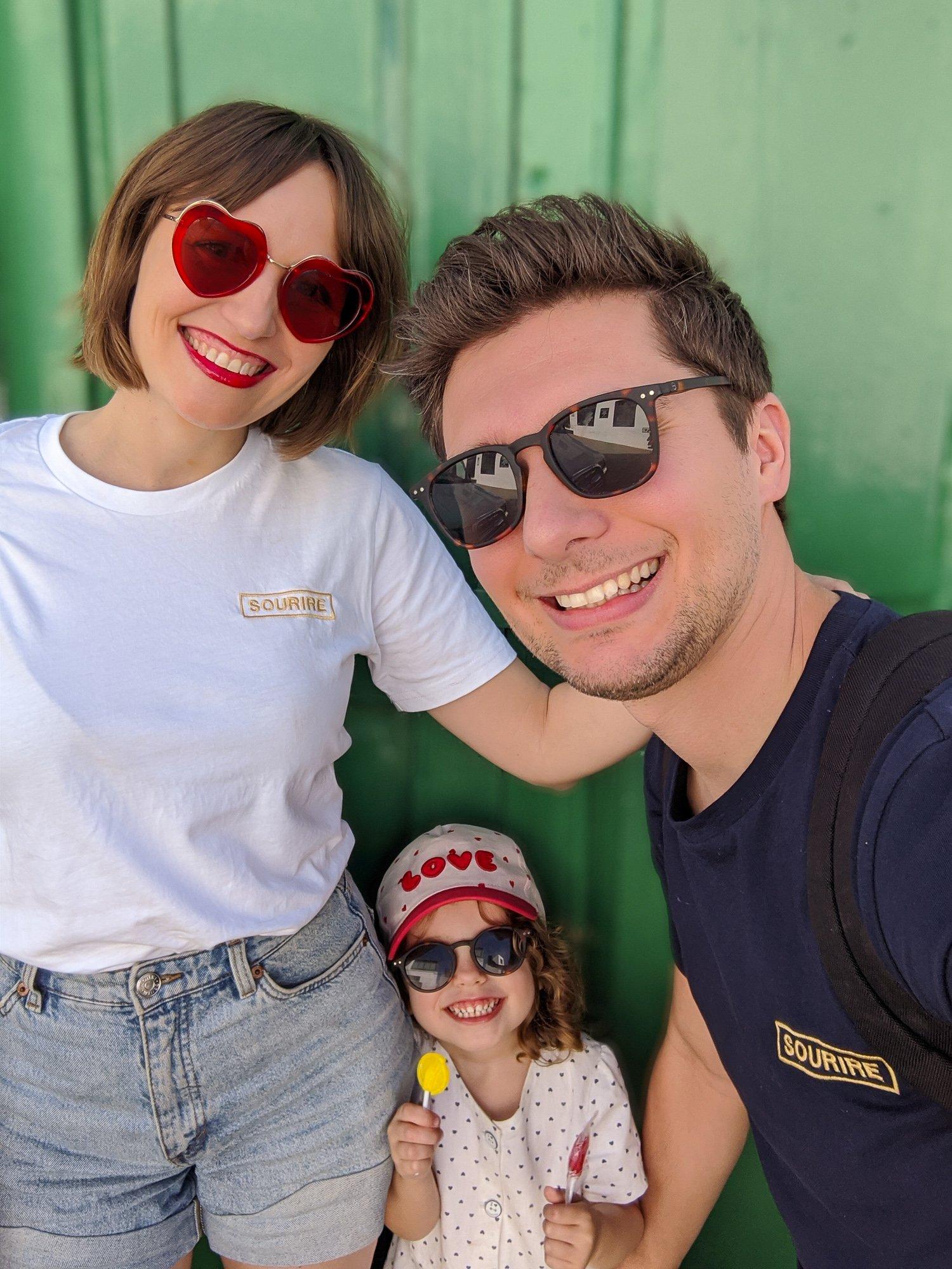 tshirt sourire en famille / risette and co