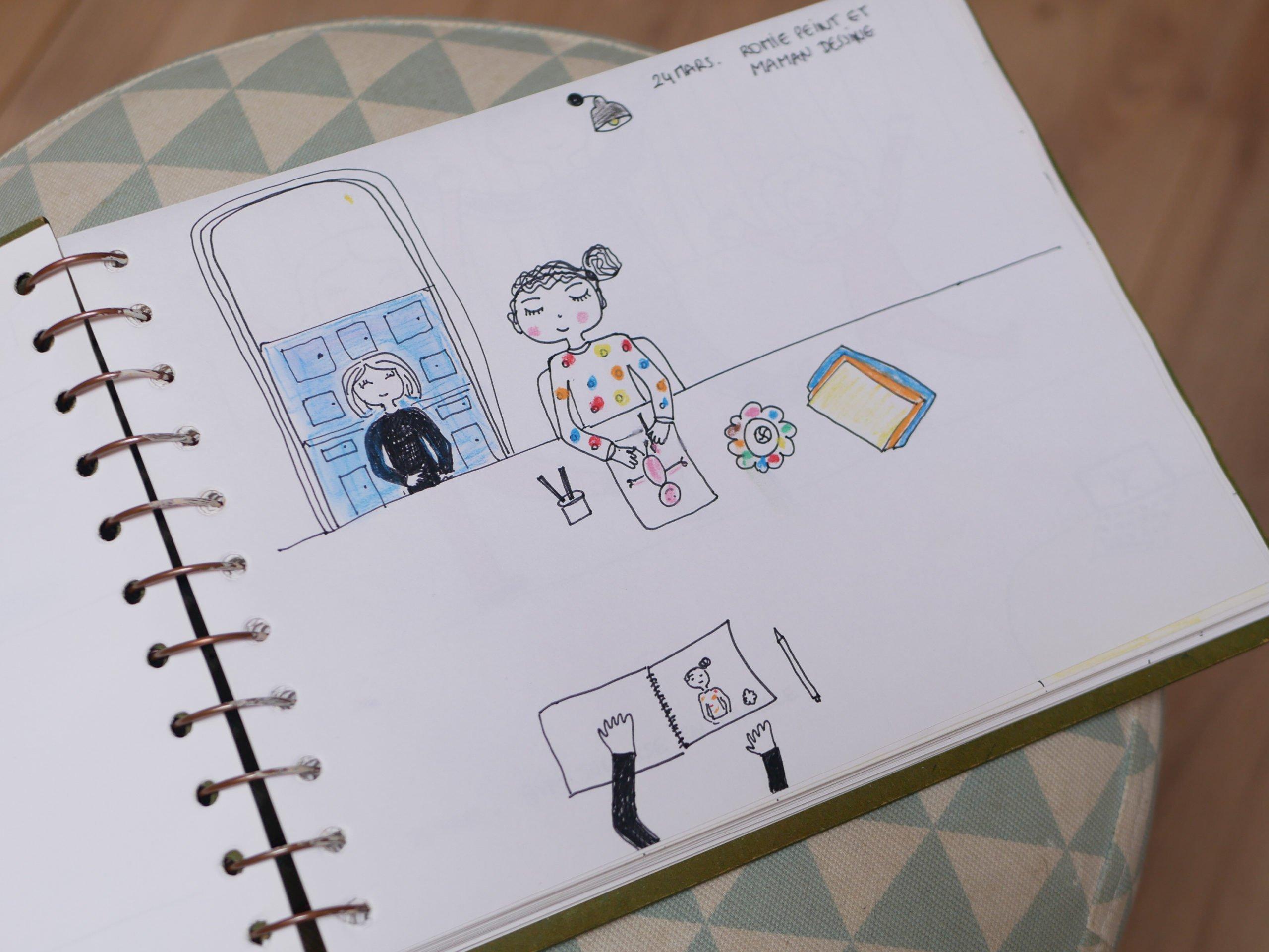 mon confinement en dessin / withalovelikethat.fr