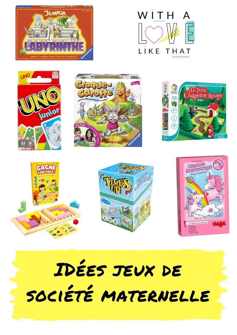 Les jeux de société préférés des enfants de maternelle / plus sur withalovelikethat.fr