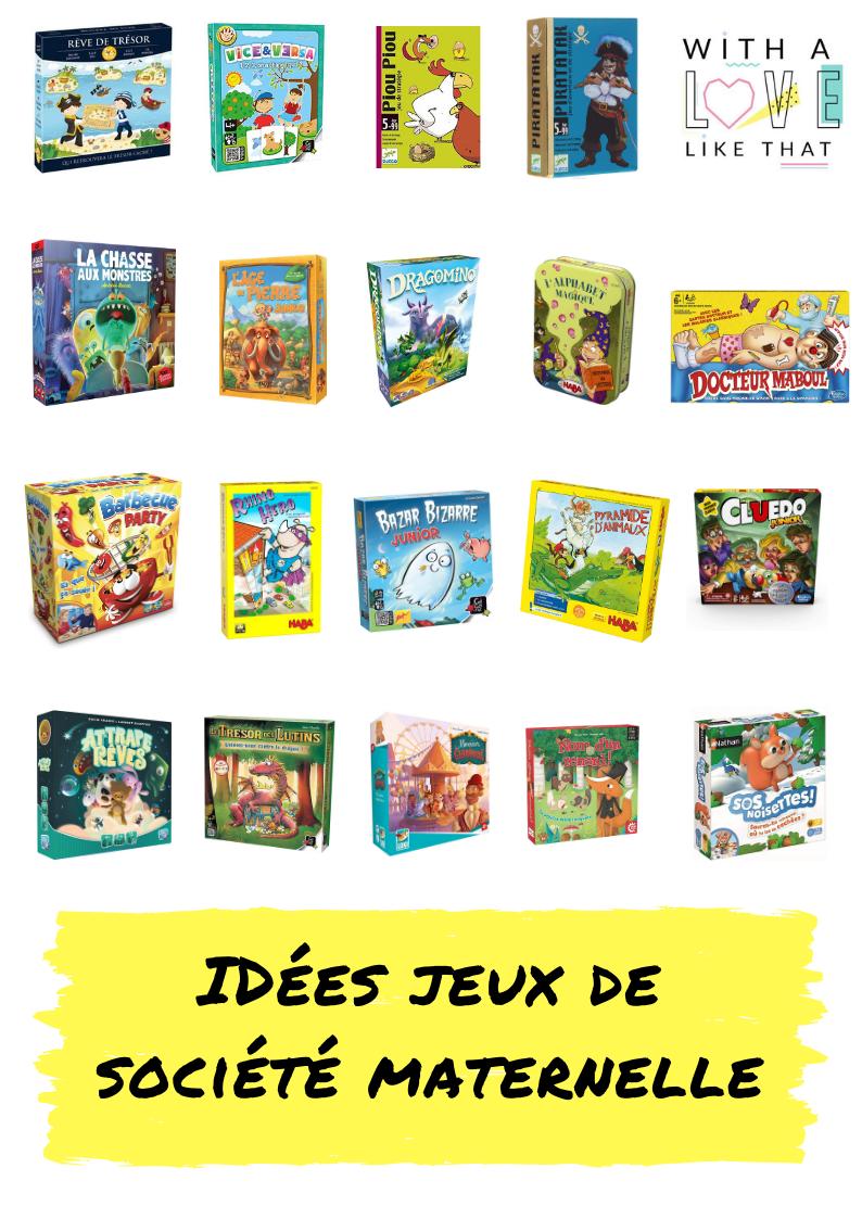 Les jeux de société préférés des enfants de maternelle/ plus sur withalovelikethat.fr