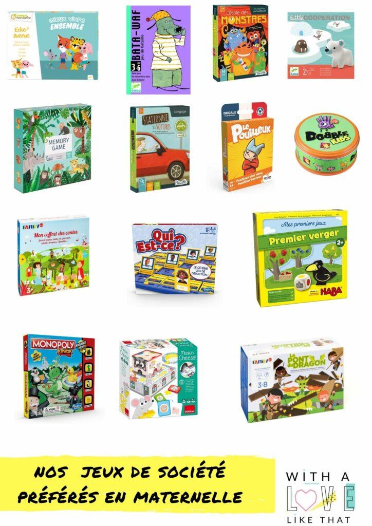 Nos jeux de société préférés en maternelle / plus sur withalovelikethat.fr (les jeux préférés des internautes)