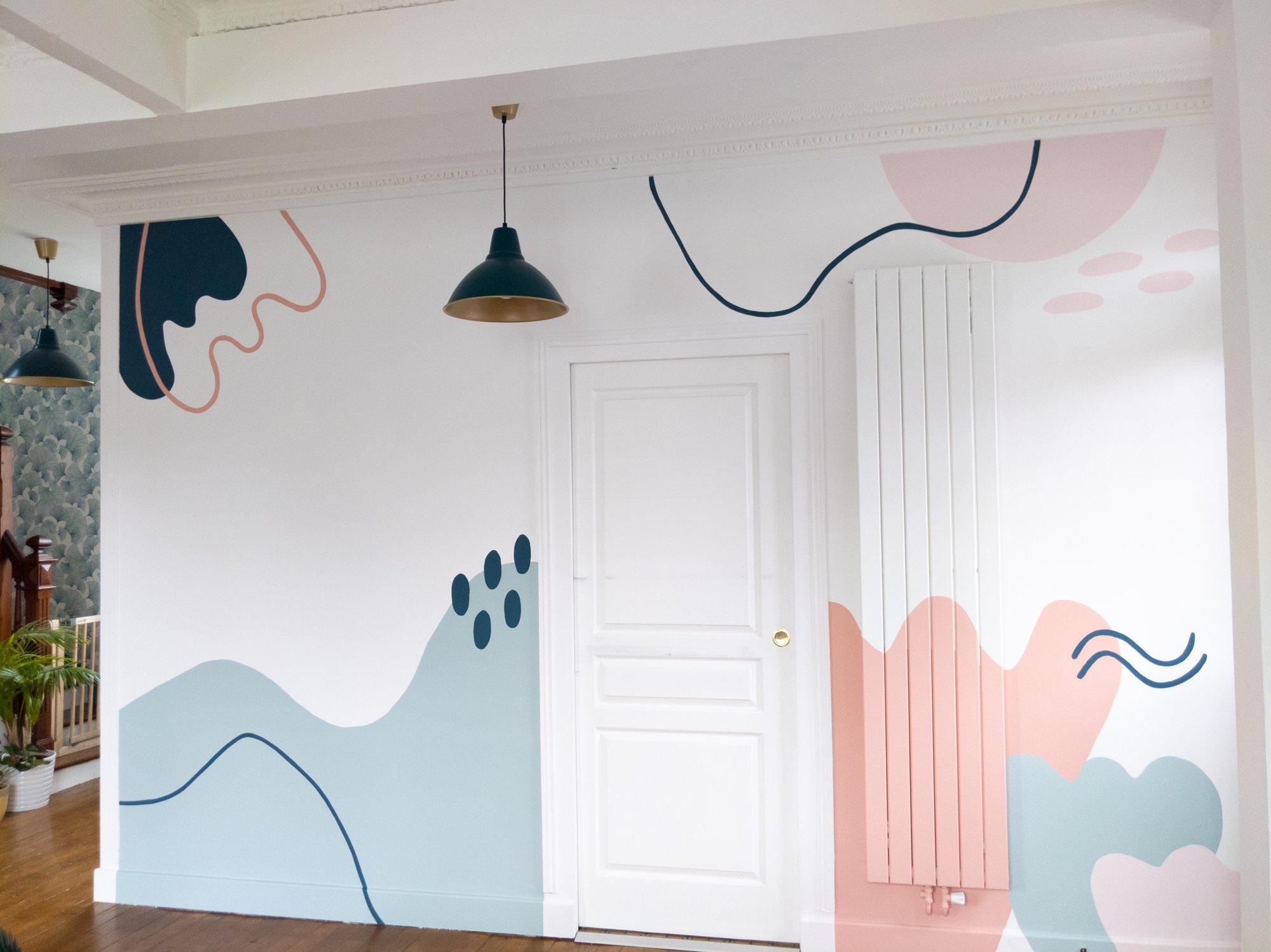 création de fresque murale personnalisée / withalovelikethat.fr