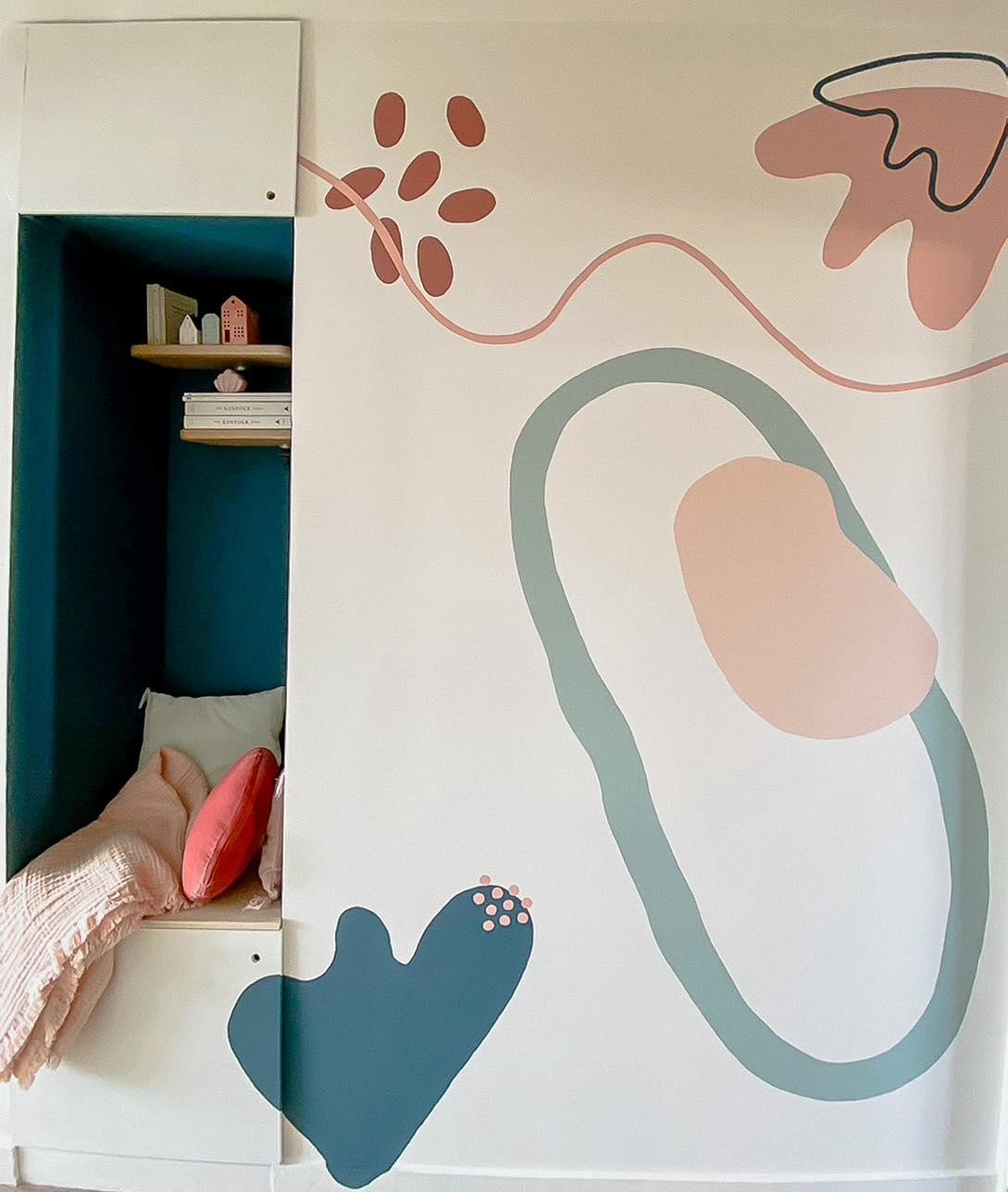 Fresque murale sur mesure par withalovelikethat.fr / chez Clélia Lam