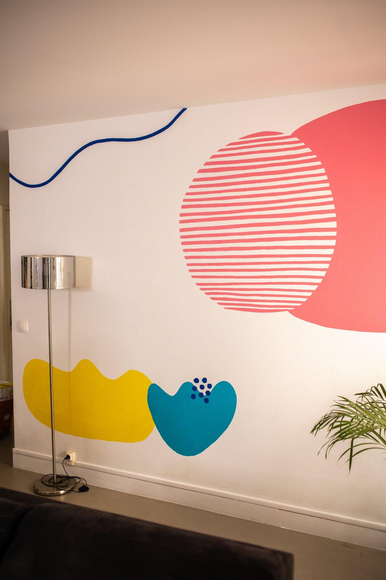 fresque murale création personnalisée / withalovelikethat.fr
