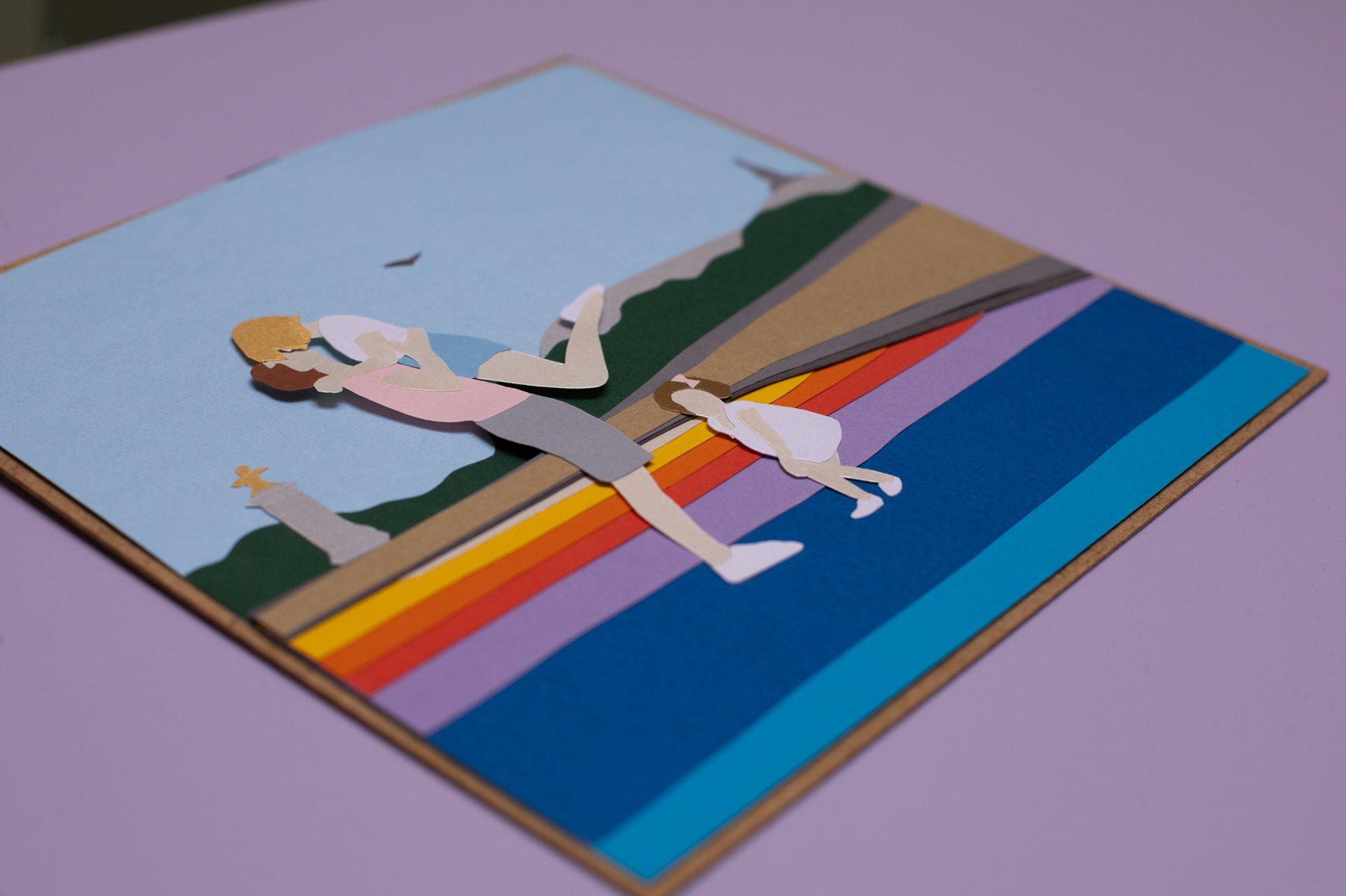idée cadeau personnalisé, les illustrations en papier découpé Laure devenelle